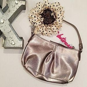 EUC Victoria's Secret Gold Small Handbag/Wristlet